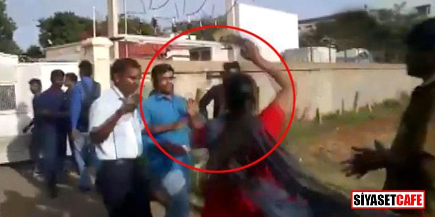 3. kez evlenmek isteyen adamı eşleri sokak ortasında dövdü