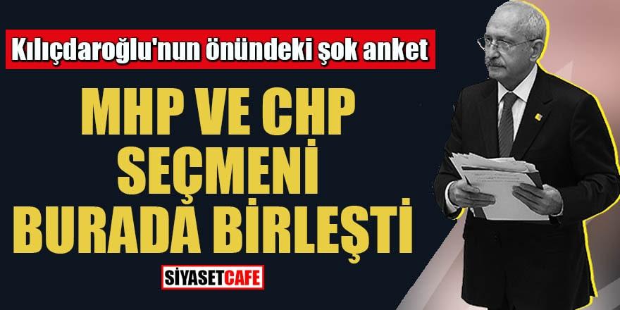 Kılıçdaroğlu'nun önündeki şok anket MHP ve CHP seçmeni burada birleşti