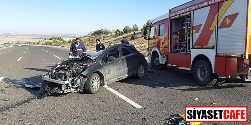 Ankara'da otomobille tır çarpıştı: 3 ölü, 3 yaralı