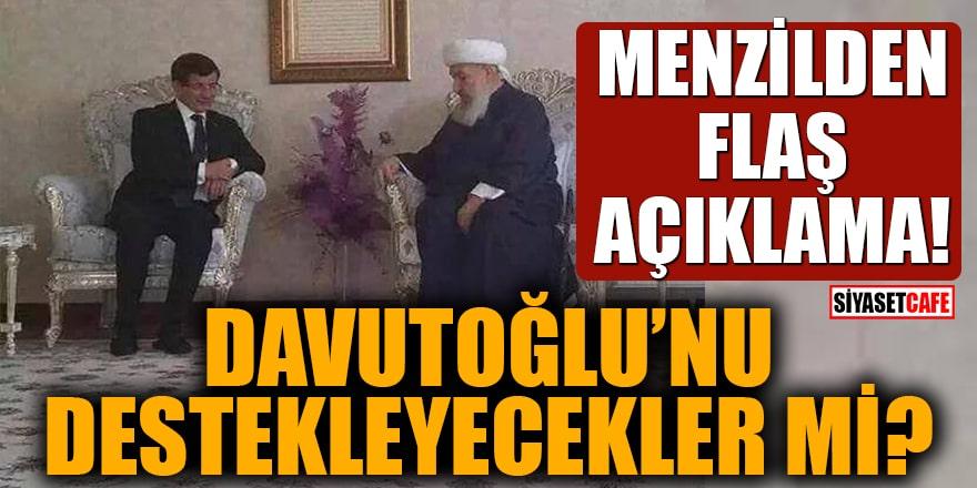 Menzilden flaş açıklama! Davutoğlu'nu destekleyecekler mi?