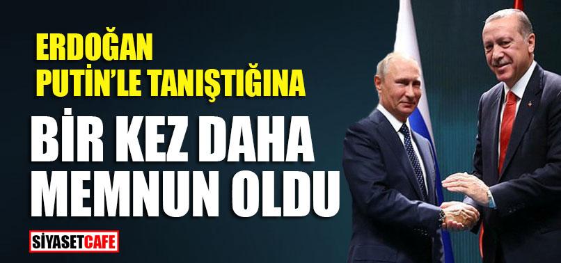 """Erdoğan'dan Putin'e ilk defaymışçasına; """"Tanıştığımıza memnun oldum"""""""