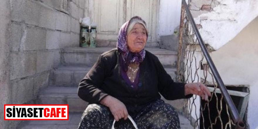 Güçleri fakire yetiyor; Yaşlı kadının meyvelerini alıp ağlattılar