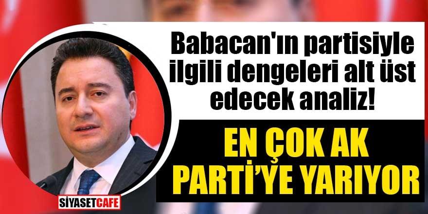 Babacan'ın partisiyle ilgili dengeleri alt üst edecek analiz! En çok AK Parti'ye yarıyor