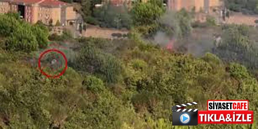 Aydos Ormanı'nda yangının çıkış anı böyle görüntülendi