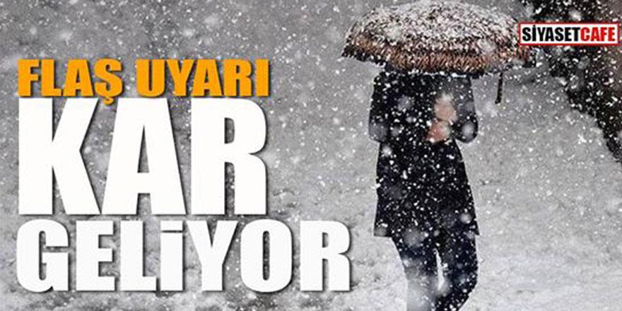 Meteoroloji uyardı; karla karışık yağmur geliyor!
