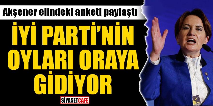 Akşener elindeki anketi paylaştı İYİ Parti'nin oyları oraya gidiyor