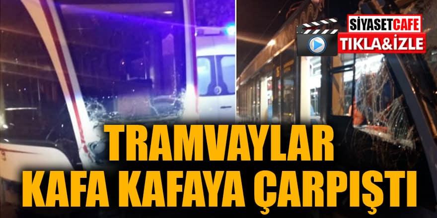 Tramvaylar kafa kafaya çarpıştı - Video Haber