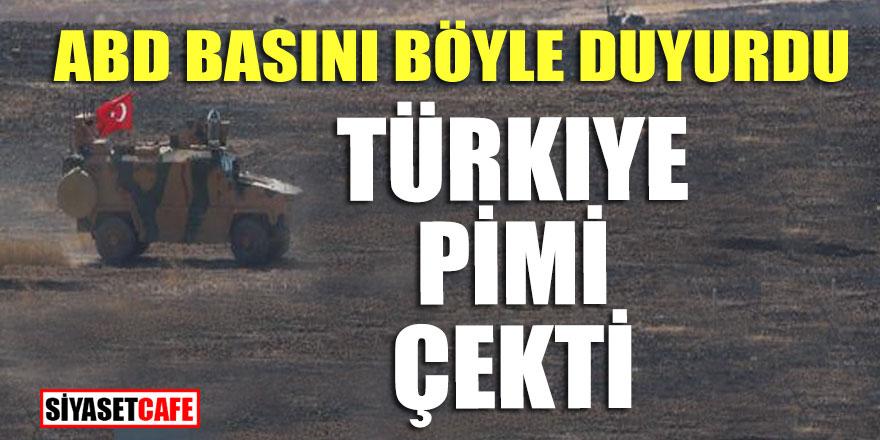 ABD basını böyle duyurdu; Türkiye pimi çekti