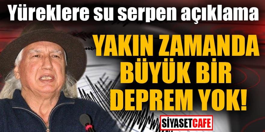 Prof. Dr. Şener Üşümezsoy: Yakın zamanda büyük bir deprem yok