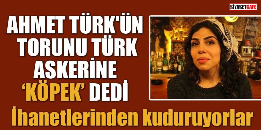 """Ahmet Türk'ün torunu Türk askerine """"köpek"""" dedi! İhanetlerinden kuduruyorlar"""