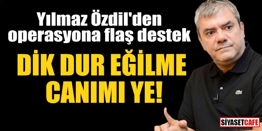 """Yılmaz Özdil'den operasyona flaş destek; """"Dik dur eğilme, canımı ye!"""""""