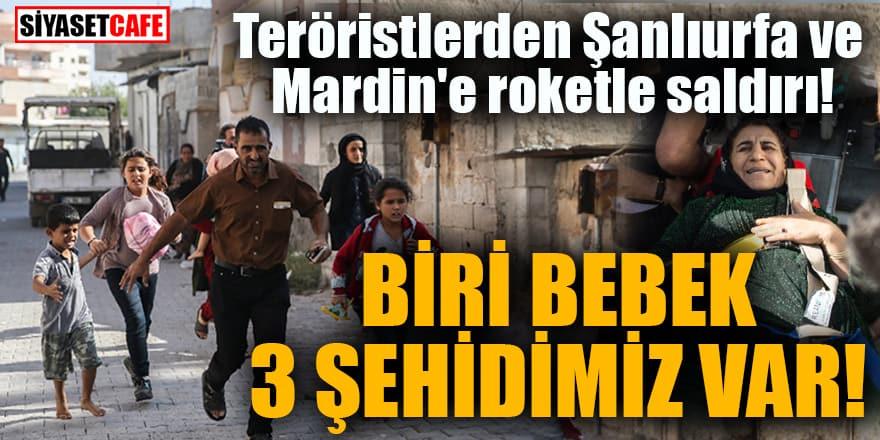 Terör örgütü sınır ilçelerimizde sivilleri hedef aldı: Biri bebek 3 şehidimiz var!