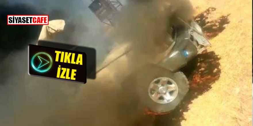 Türkiye'ye havan atışı yapan teröristler böyle vuruldu!