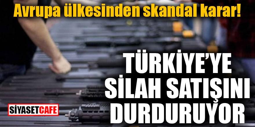 Avrupa ülkesinden skandal karar! Türkiye'ye silah satışını durduruyor