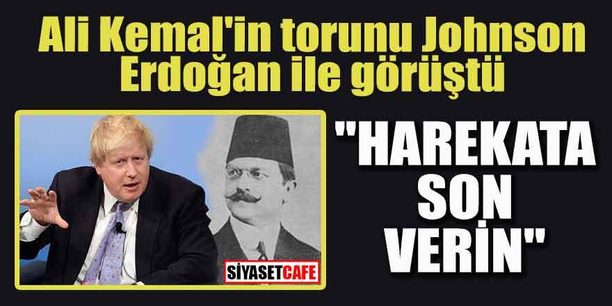 """Ali Kemal'in torunu Johnson Erdoğan ile görüştü; """"Harekata son verin"""""""