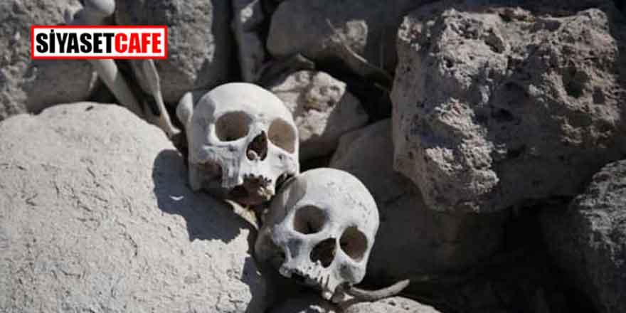 Korku filmi değil, gerçek! Kayseri'de sular çekildi, kafatası ve kemikler ortaya çıktı