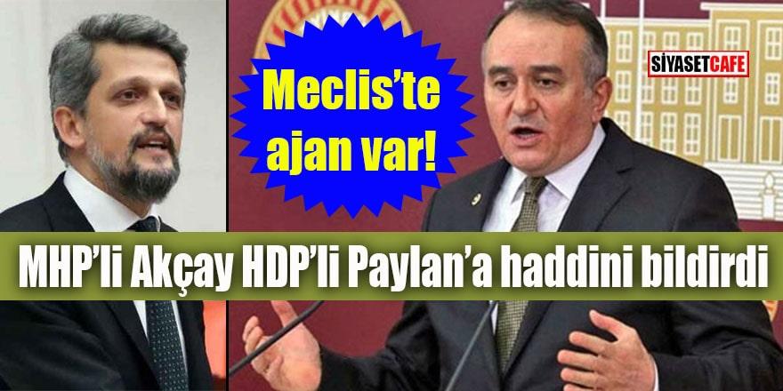 MHP'li Akçay HDP'li Paylan'a haddini bildirdi: Meclis'te ajan var!