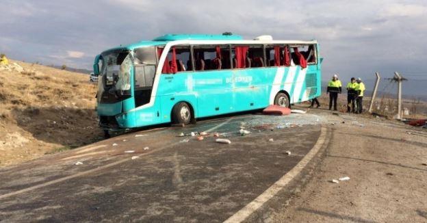 Çankırı'da otobüs kazası: 34 yaralı