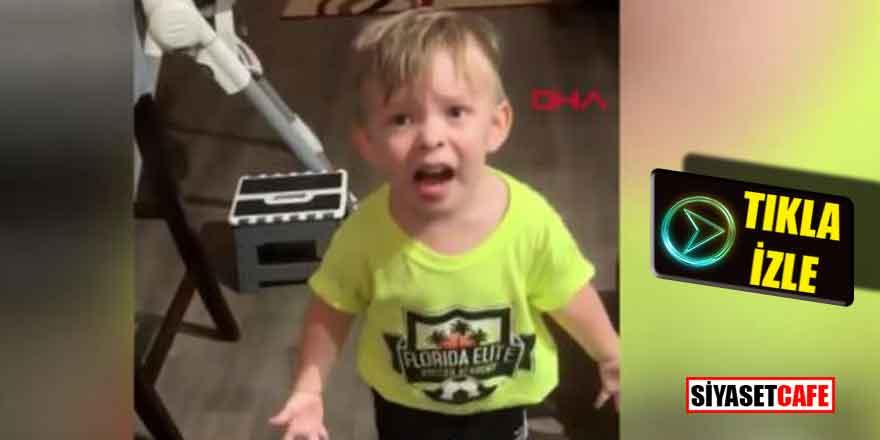 Annesi işe gitmeden önce onu öpmedi, minik çocuk böyle isyan etti!