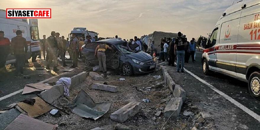 Mardin'de zincirleme kazada araçlar tanınmaz hale geldi