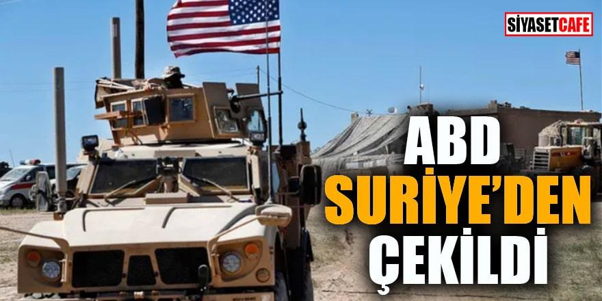 ABD Suriye'den çekildi