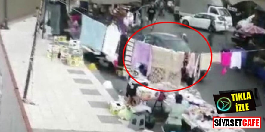 İstanbul'da dehşet: Otomobil pazara daldı