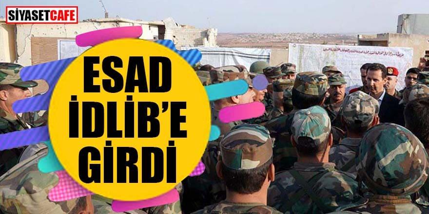 Esad İdlib'e girdi