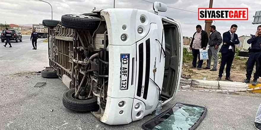 Afyon'da trafik kazası: 19 yaralı