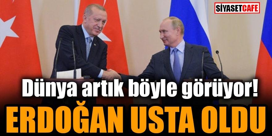 Dünya artık böyle görüyor! Erdoğan usta oldu
