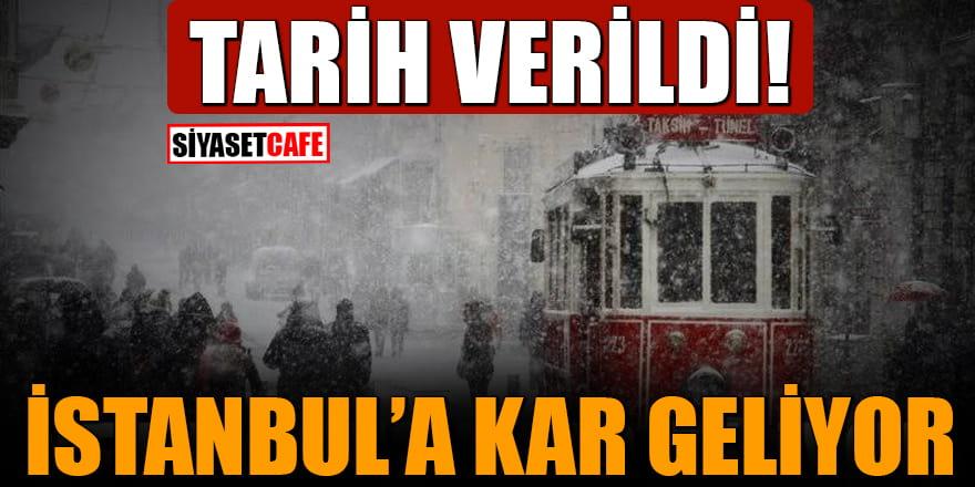 Tarih verildi! İstanbul'a kar geliyor