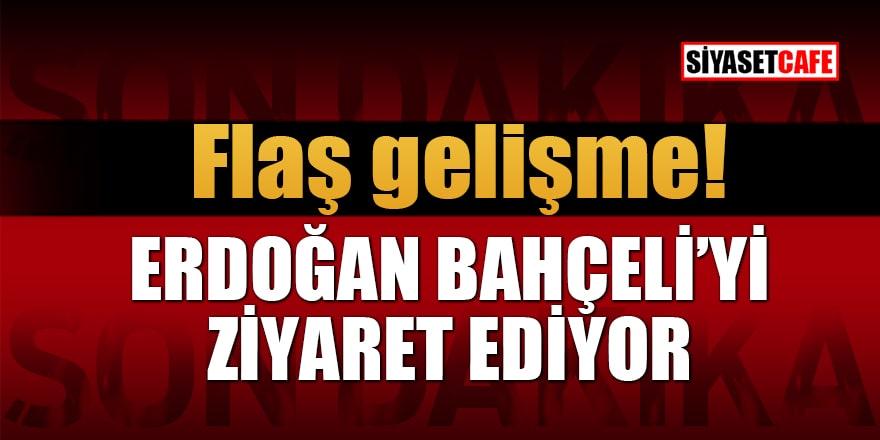 Flaş gelişme! Erdoğan Bahçeli'yi ziyaret ediyor
