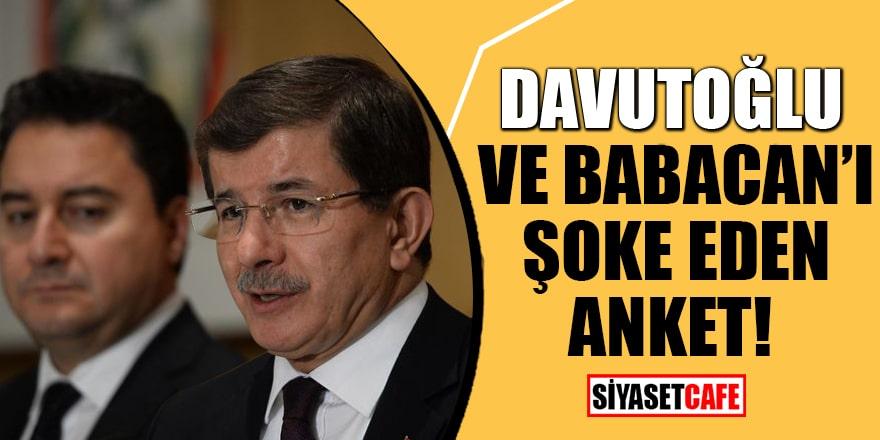 Davutoğlu ve Babacan'ı şoke eden anket!