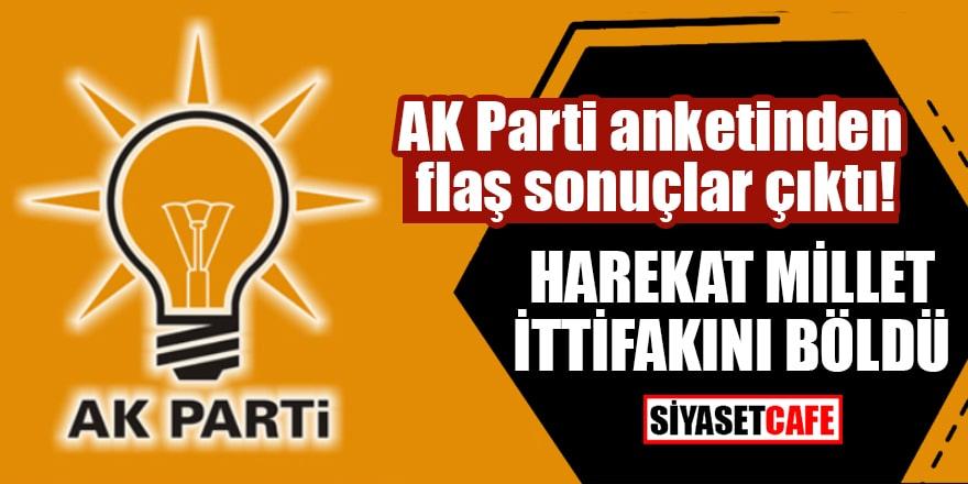 AK Parti anketinden flaş sonuçlar çıktı! Harekat Millet ittifakını böldü