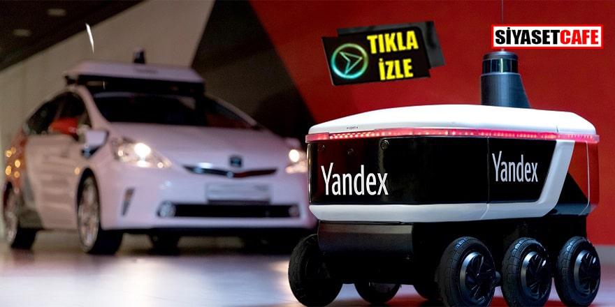 Yandex'in teslimat robotu testte
