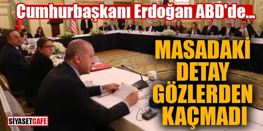 Erdoğan'ın ABD'de katıldığı Yuvarlak Masa Toplantısı'nda dikkat çeken detay!