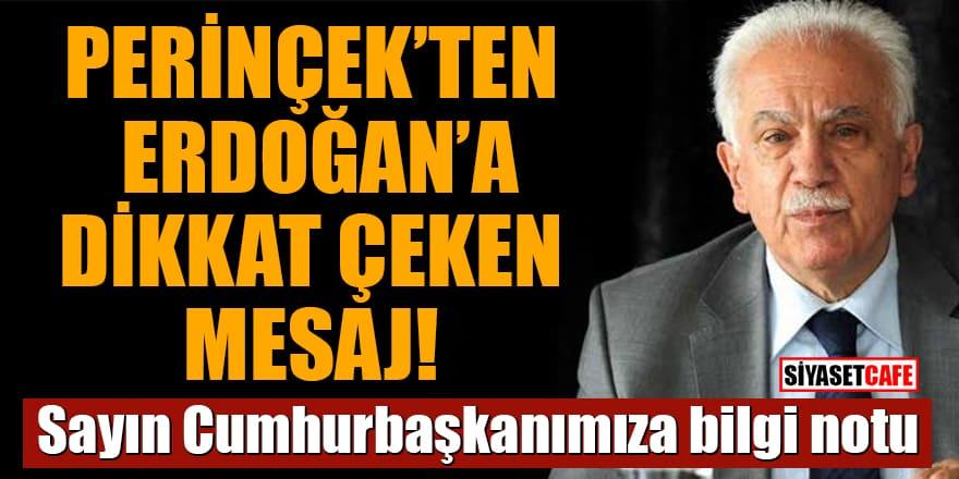 Perinçek'ten Erdoğan'a dikkat çeken mesaj: Sayın Cumhurbaşkanımıza bilgi notu