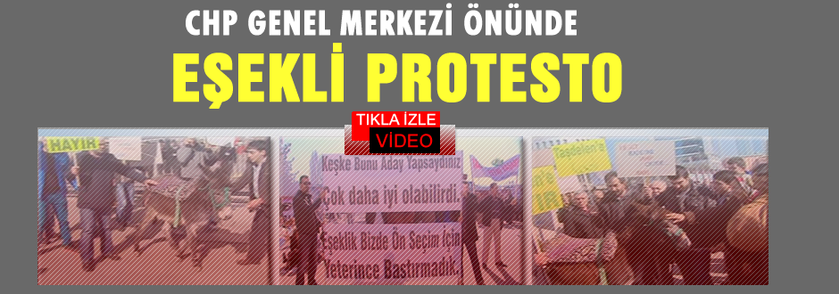 CHP Genel Merkezi önünde 'eşekli' protesto