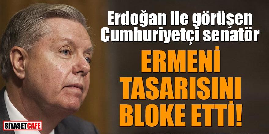 Erdoğan ile görüşen Cumhuriyetçi senatör Ermeni tasarısını bloke etti!