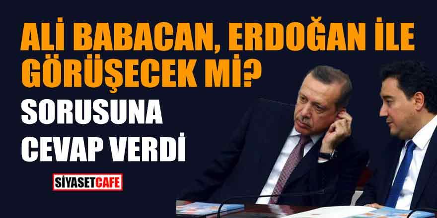 Ali Babacan, Erdoğan ile görüşecek mi sorusuna cevap verdi...