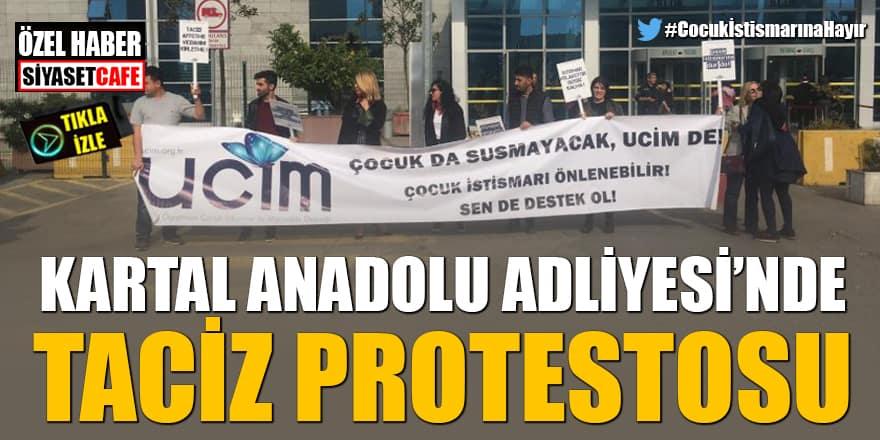 Kartal Anadolu Adliyesi'nde taciz protestosu