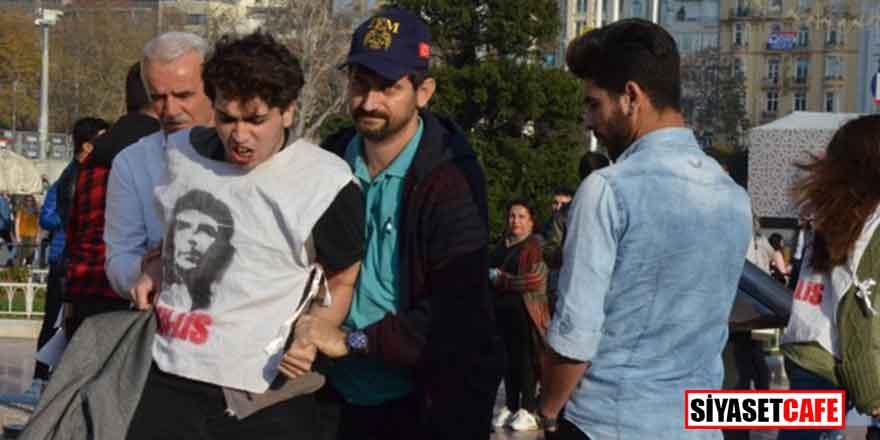 Taksim'de hareketli anlar! Rabia Naz için eylem yapanlar gözaltına alındı