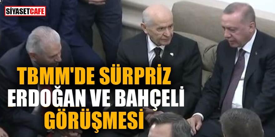 TBMM'de sürpriz Erdoğan ve Bahçeli görüşmesi