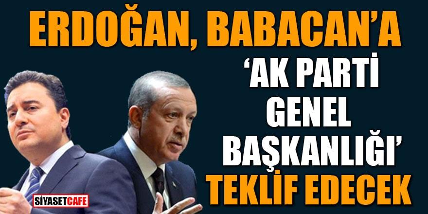 Cumhurbaşkanı Erdoğan, Ali Babacan'a 'AK Parti Genel Başkanlığı' teklif edecek iddiası