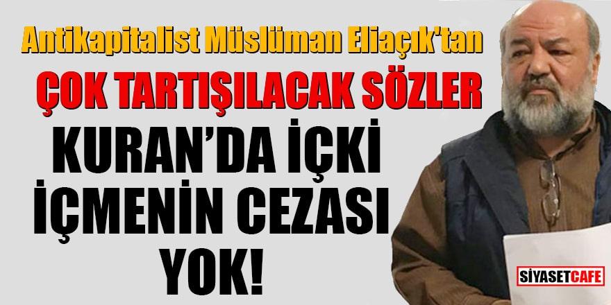 İhsan Eliaçık'tan çok tartışılacak sözler! Kuran'da içki içmenin cezası yok