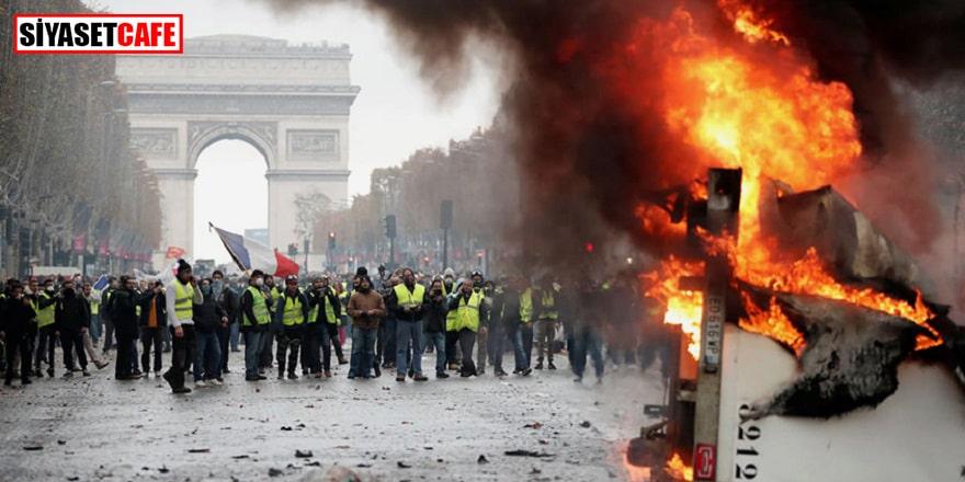 Fransa'daki eylemlere 285 bin kişilik destek