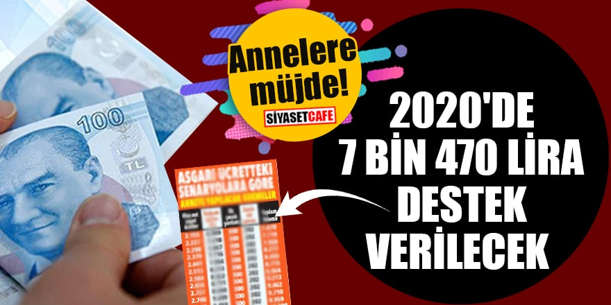 Annelere müjde! 2020'de 7 bin 470 lira destek verilecek