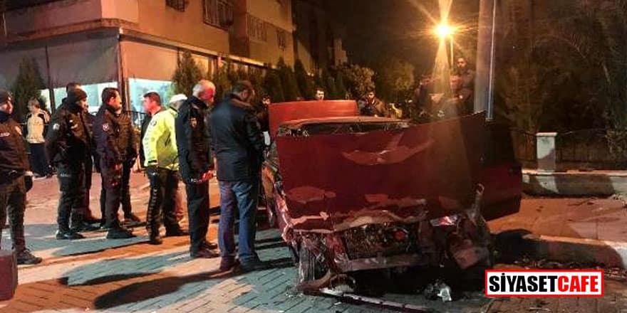 Polisten kaçarken kaza yaptı, otomobilinden cephanelik çıktı