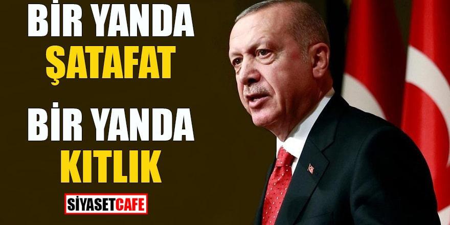 Erdoğan'dan zekat vurgusu: Bir yanda şatafat, bir yanda kıtlık