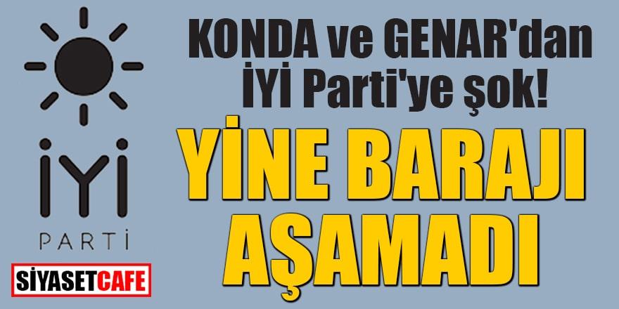 KONDA ve GENAR'dan İYİ Parti'ye şok! Yine barajı aşamadı