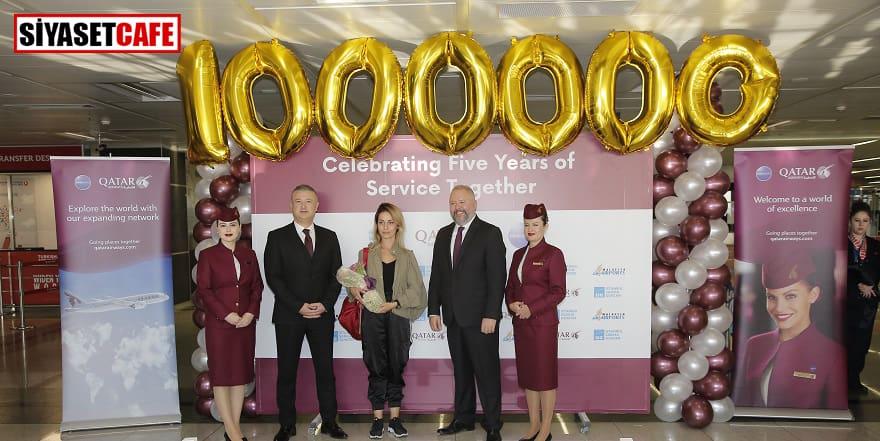 Sabiha Gökçen'de 1 milyonuncu yolcu coşkusu